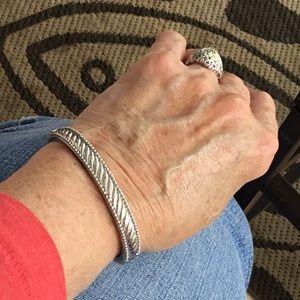 Judith Ripka 925 Stunning Sterling Bracelet EUC